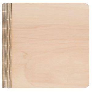 Gelaserte Holzmappe