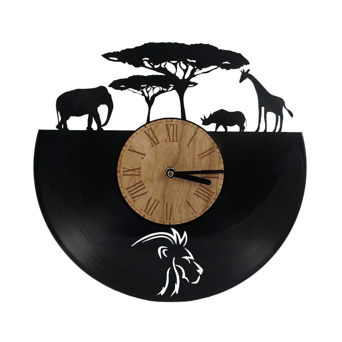 Uhr-Afrika aus Vinyl-Schallplatte gelasert - Punktgenau Werbetechnik ...